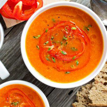 Velouté de poivrons rouges à l'orange