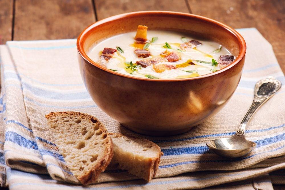 Une recette de potage crémeux
