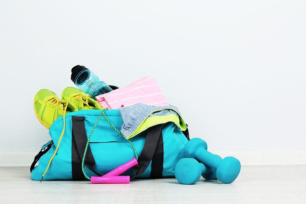Pour vous motiver à aller vous entraîner, faites votre sac la veille.