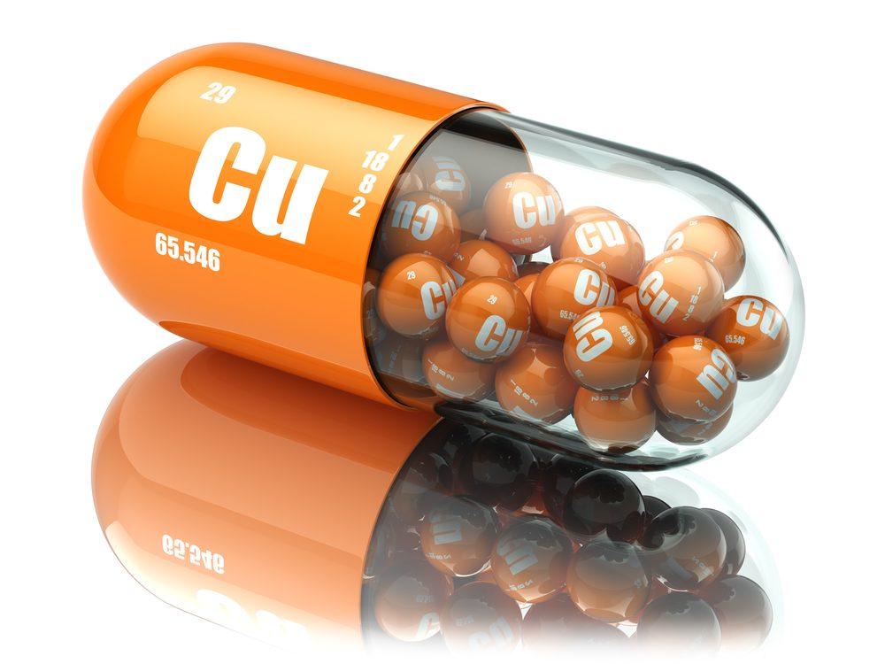 Prendre des suppléments de cuivre