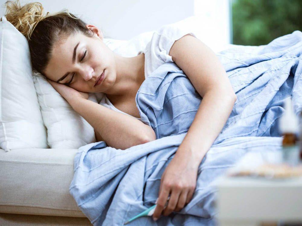 Toujours fatigué à cause des infections chroniques.
