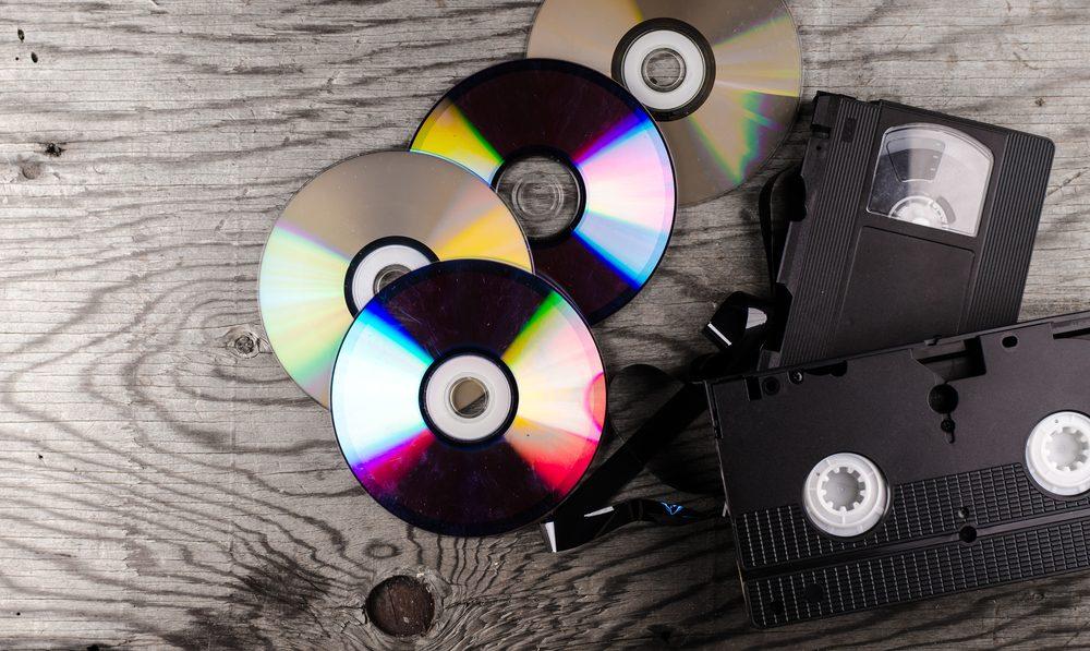Évitez d'acheter des dvd dans une vente de garage