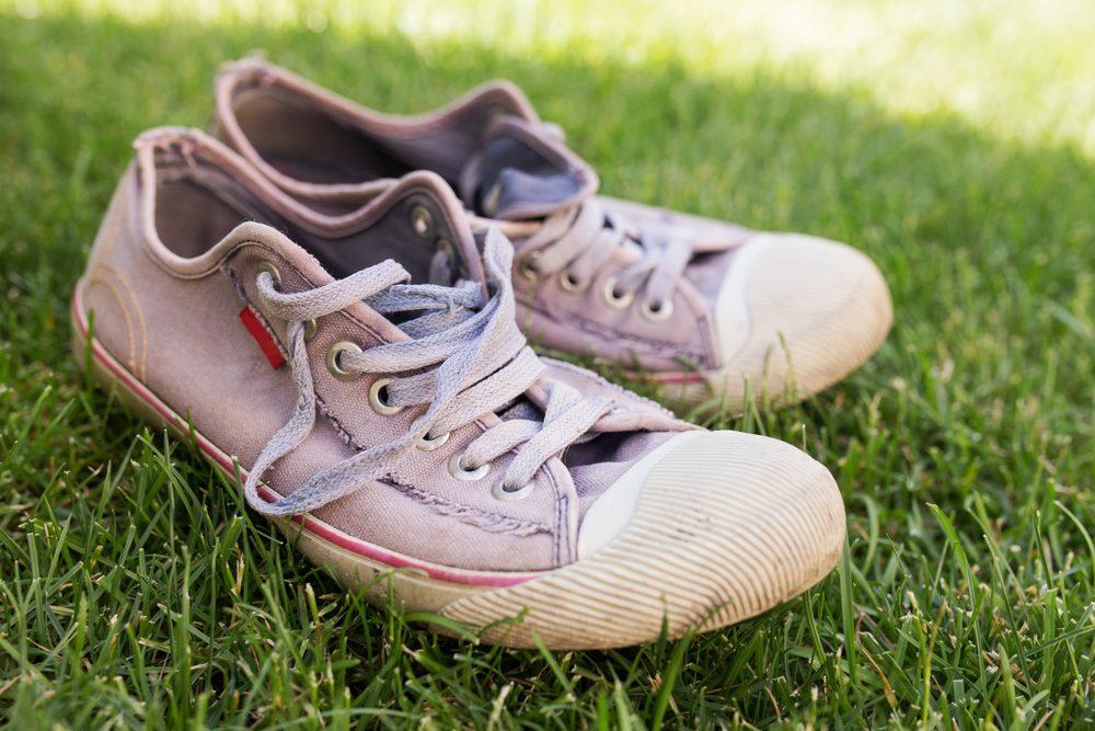 Évitez d'acheter des souliers de course dans une vente de garage