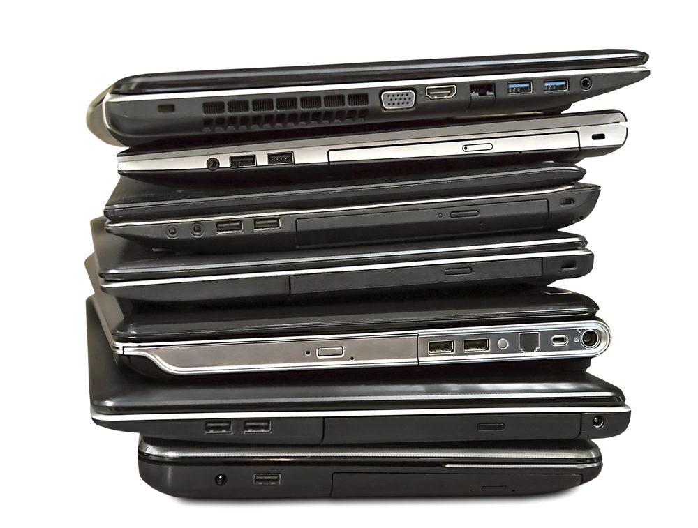 Évitez d'acheter des ordinateurs portables dans une vente de garage