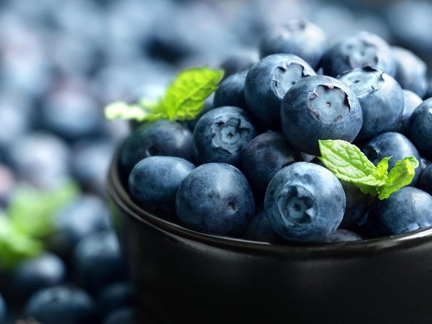 Parmi les meilleurs aliments santé, les bleuets.