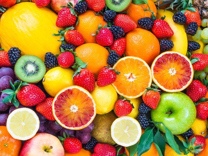 Aliments riches en antioxydants.