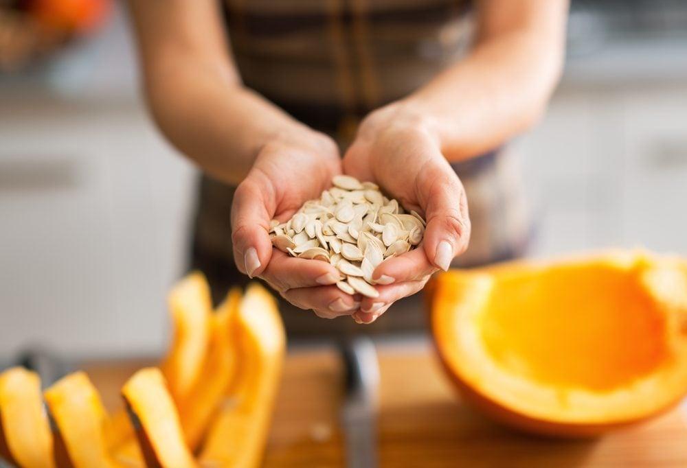 Les graines de citrouille pourstimuler le système immunitaire.