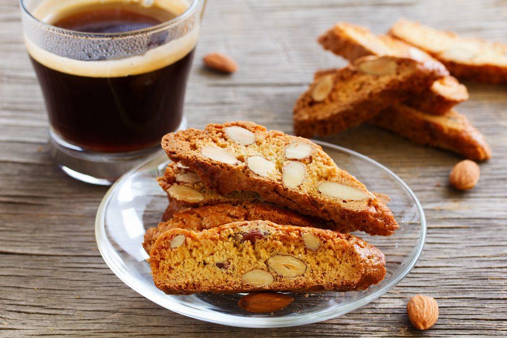 Collation santé: biscotti.