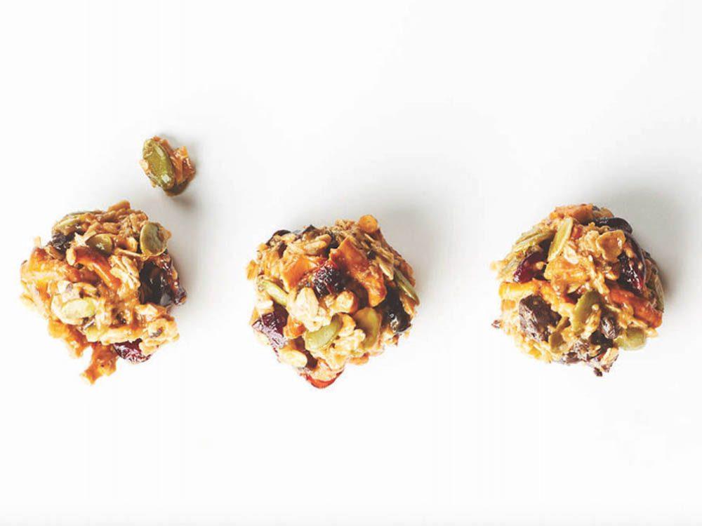 Collation santé: bouchée au beurre d'arachide.
