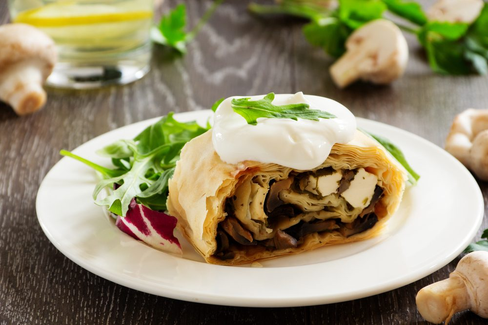 Une recette pour maigrir au petit-déjeuner de strudel aux champignons