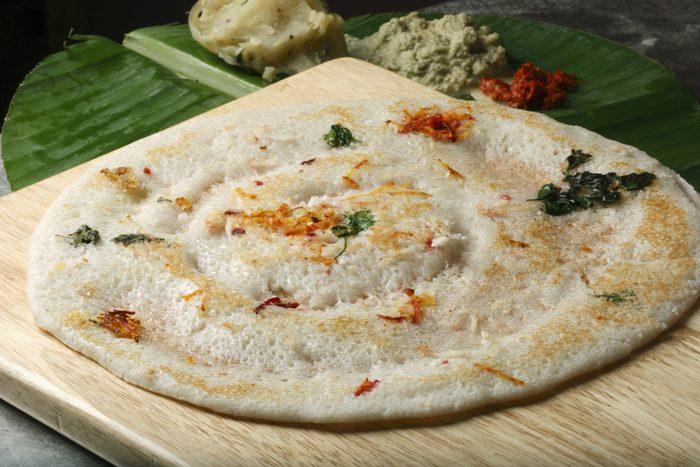 Déjeuner traditionnel indien.
