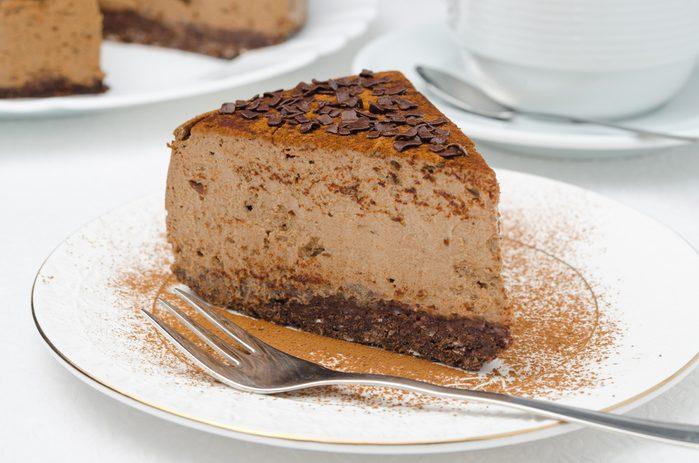 Un gâteau au fromage et chocolat réconfortant
