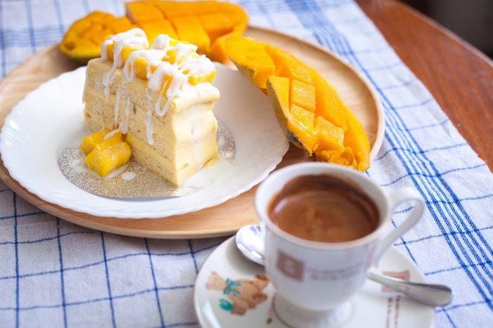 Un gâteau à la mangue
