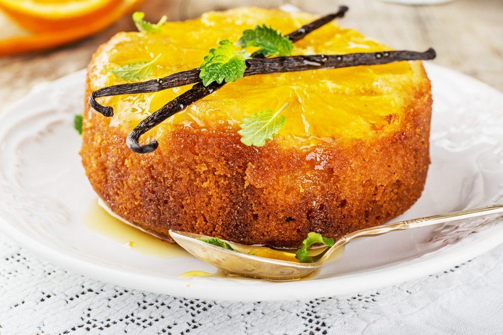 Un gâteau à l'orange