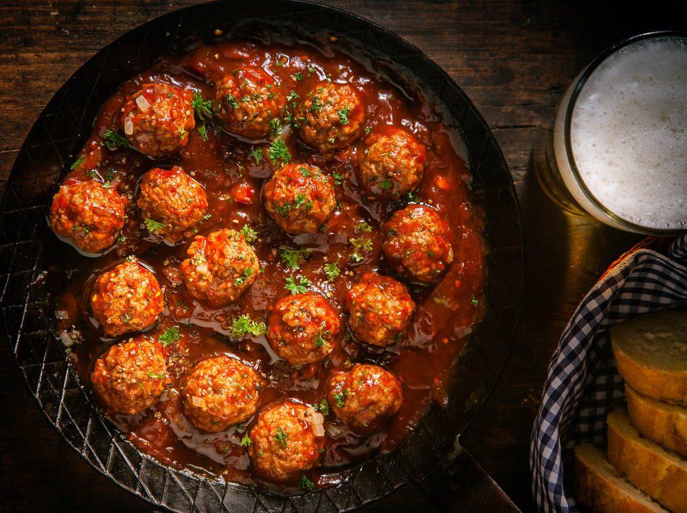 Du gluten se cache aussi dans les boulettes de viande.