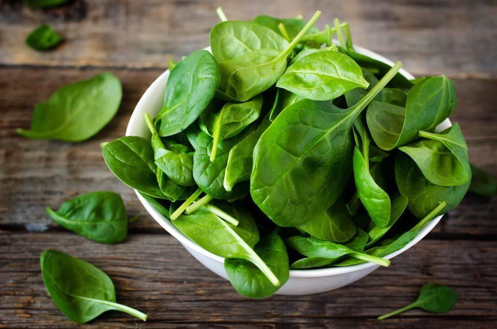 Les épinards parmi les meilleurs aliments santé.