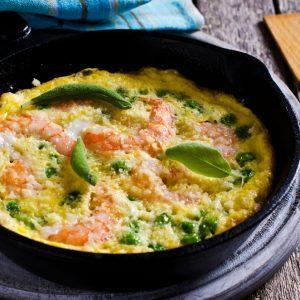 Omelette foo-yong aux crevettes