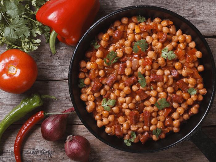Recette santé et rapide: pommes de terres et légumes.