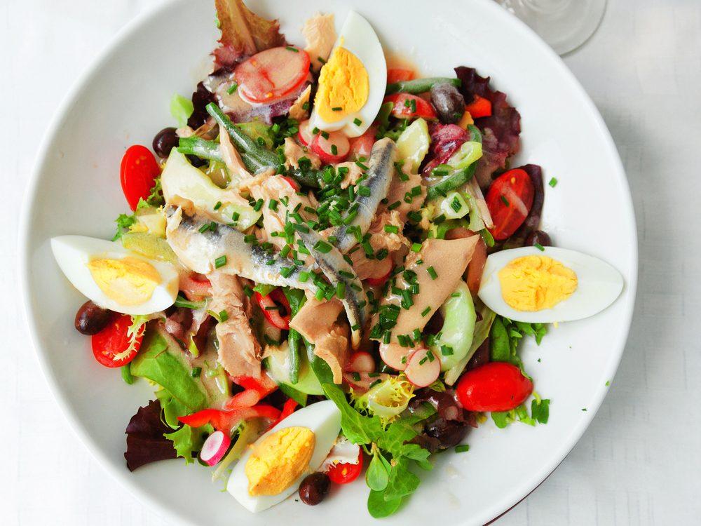 Une recette de salade niçoise