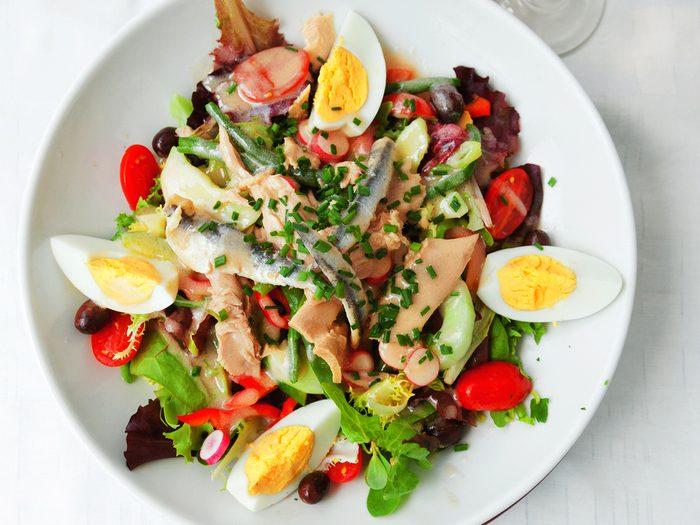 Une recette de salade niçoise santé express