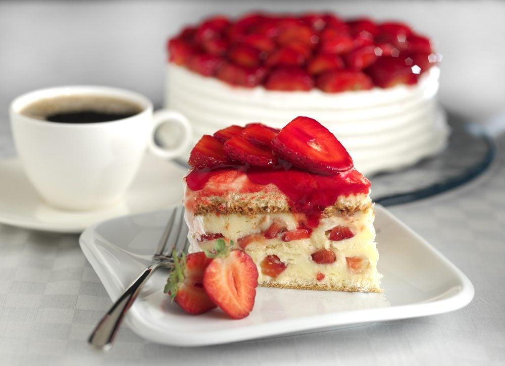 Un gâteau aux fraises réconfortant
