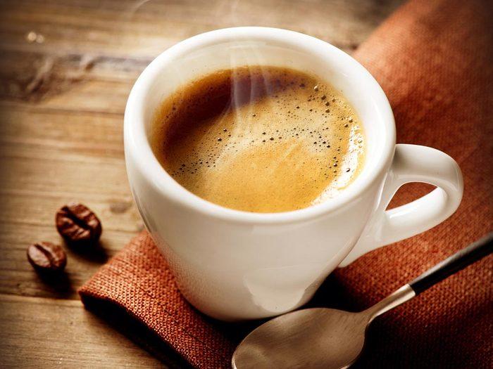 Aliments pour maigrir et favorisant la perte de poids: le café.