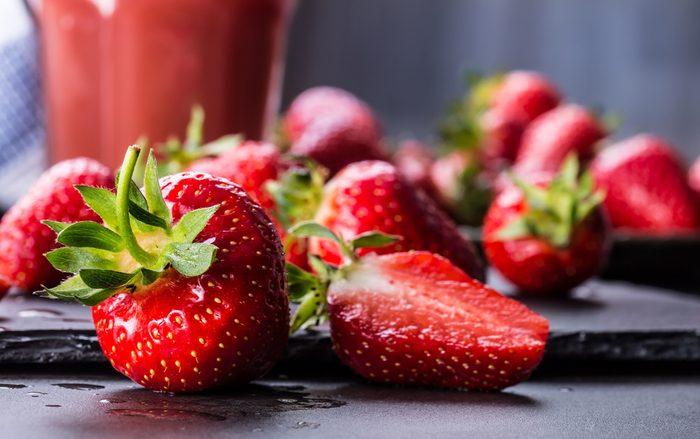Aliments pour maigrir et favorisant la perte de poids: la fraise.