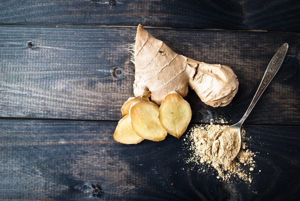 Aliments pour maigrir et favorisant la perte de poids: le gingembre.