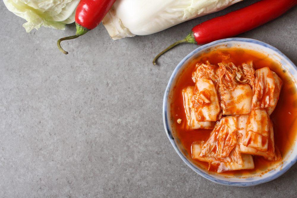 Aliments pour maigrir et favorisant la perte de poids: kimchi.