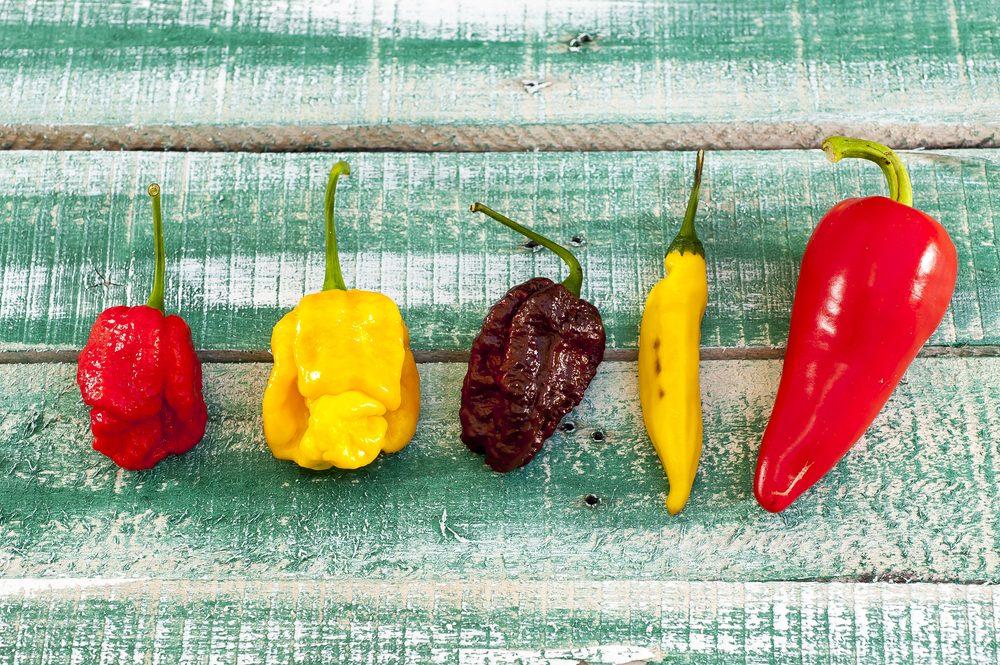 Aliments pour maigrir et favorisant la perte de poids: le piment fort.