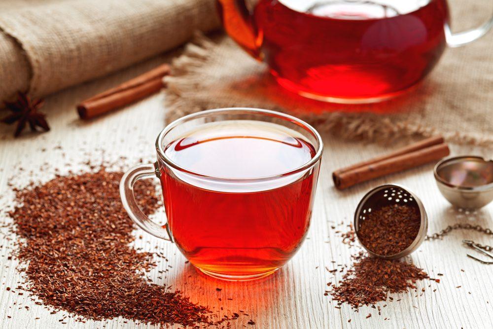 Aliments pour maigrir et favorisant la perte de poids: thé rooïbos.