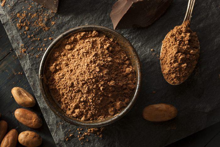 Aliments pour maigrir et favorisant la perte de poids: le cacao.