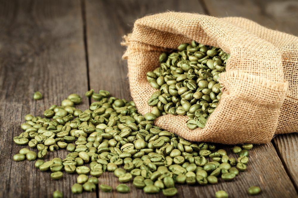 Aliments pour maigrir et favorisant la perte de poids: le café vert.