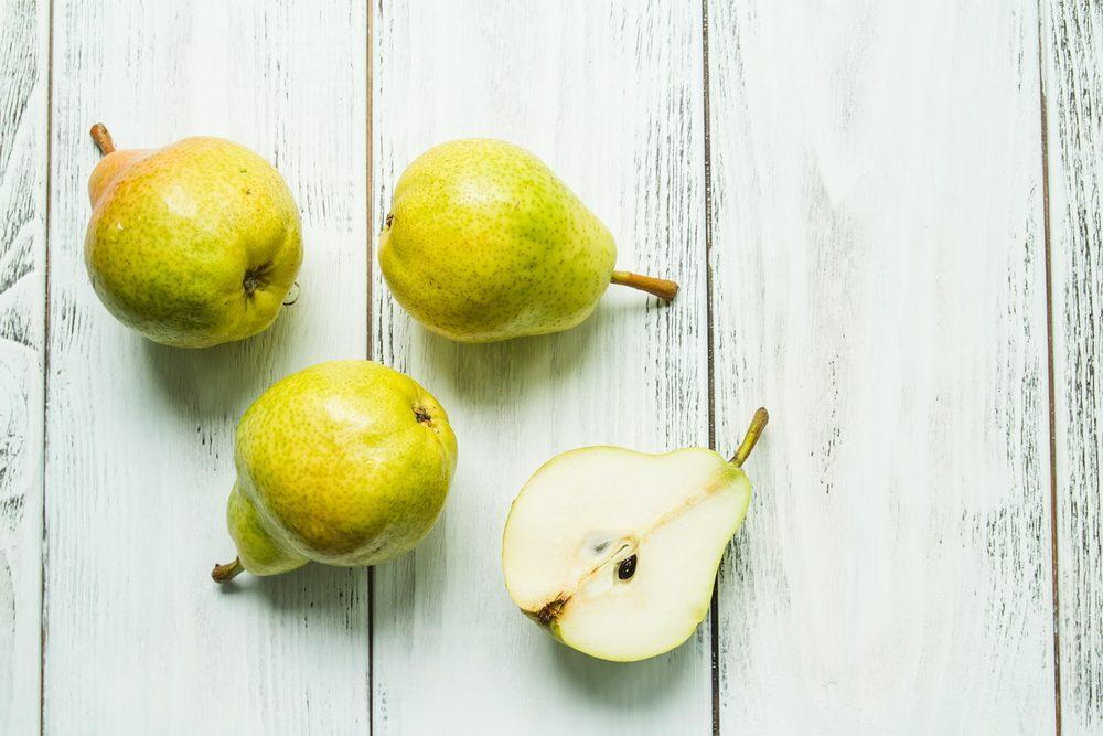 Aliments pour maigrir et favorisant la perte de poids: la poire.