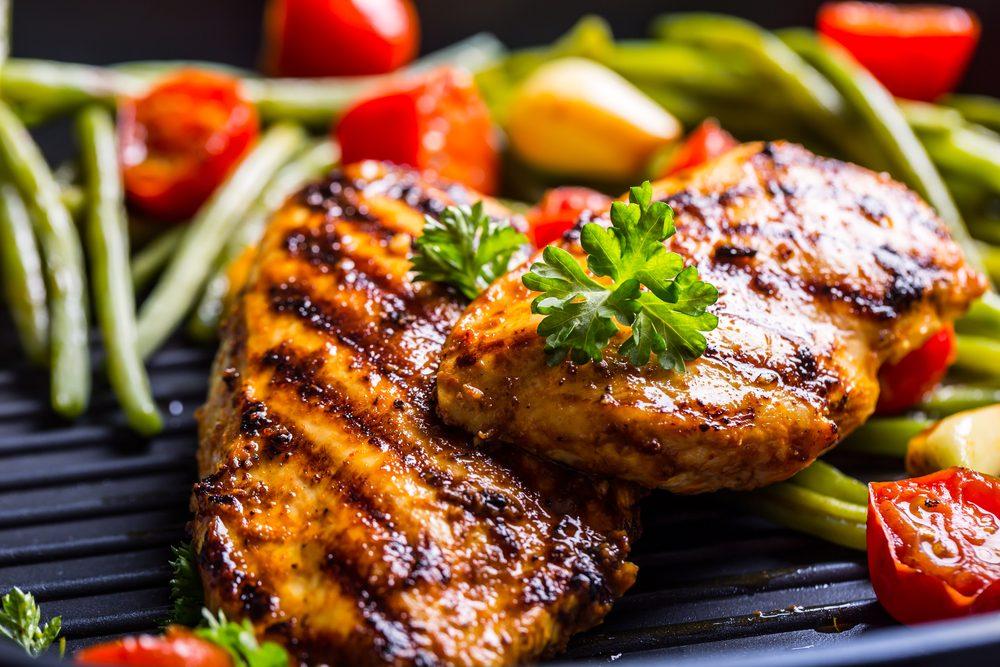 Aliments pour maigrir et favorisant la perte de poids: aliments riches en protéines.