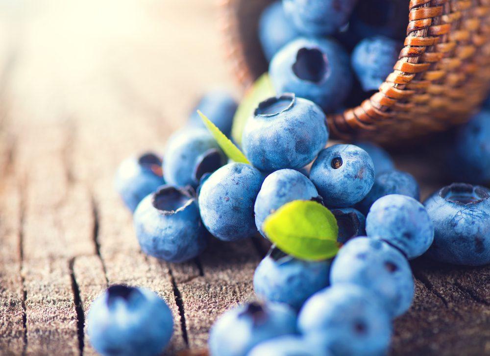 Aliments pour maigrir et favorisant la perte de poids: les bleuets.