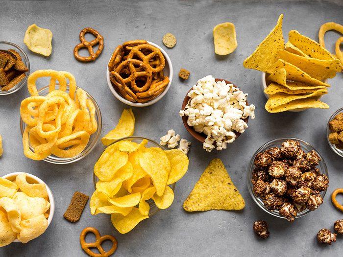 Les aliments emballés sont mauvais pour le cholestérol.