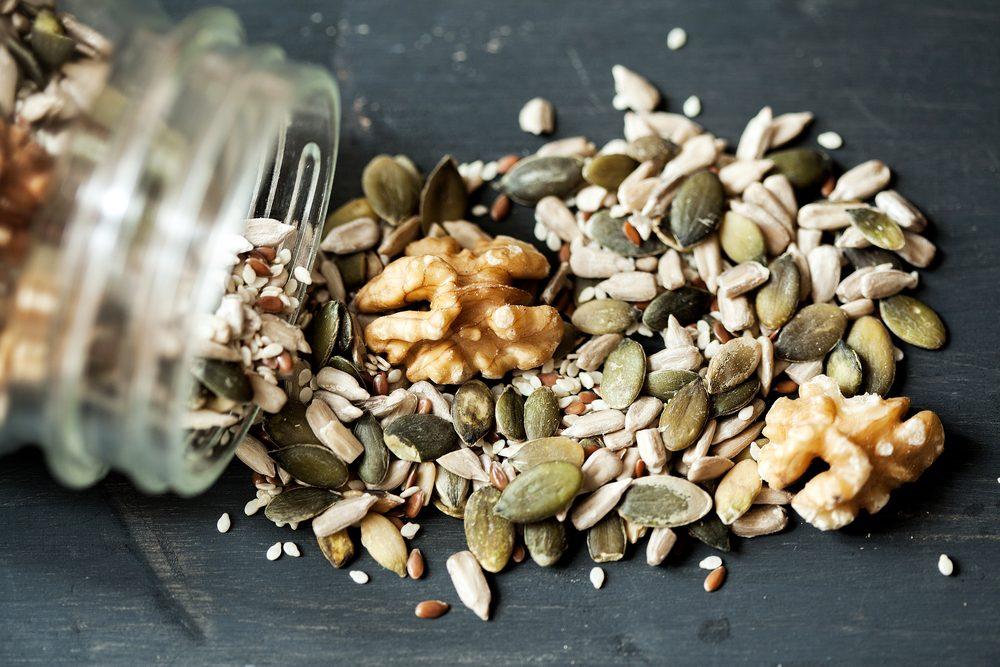 Aliments pour maigrir et favorisant la perte de poids: noix.