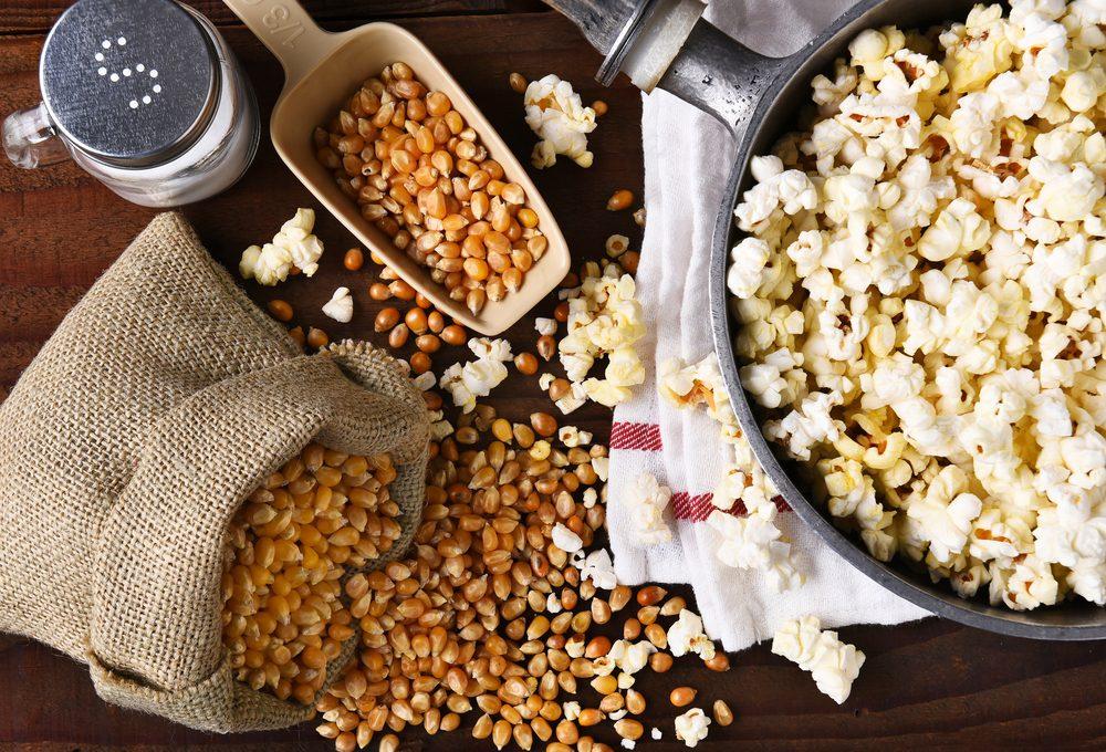 Du popcorn pour un ventre plat.