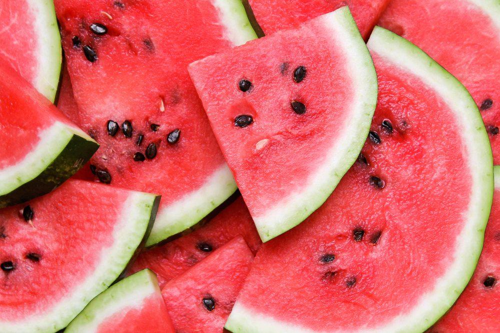 Aliments pour maigrir et favorisant la perte de poids: le melon d'eau.