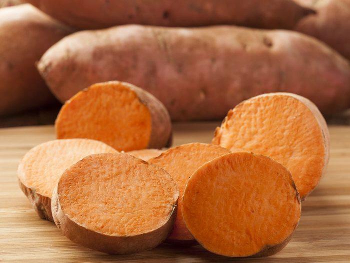 Aliment beauté belle peau, la patate douce