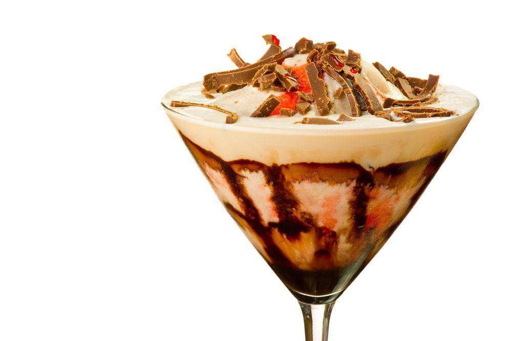 Une recette de cocktail au chocolat et framboise