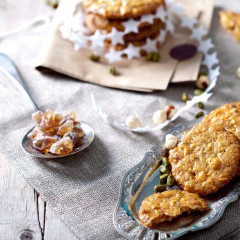 Biscuits au caramel et aux amandes