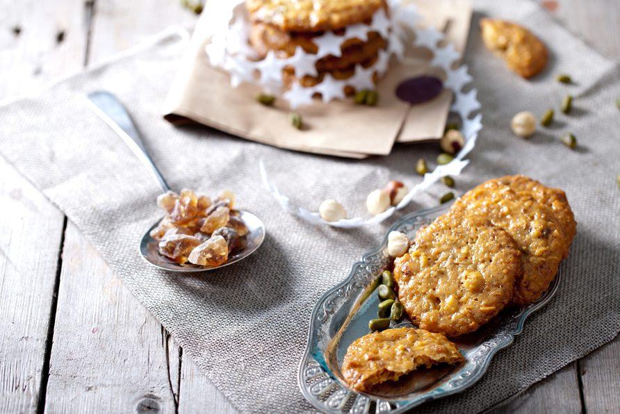 Une recette de biscuits aux amandes et au caramel