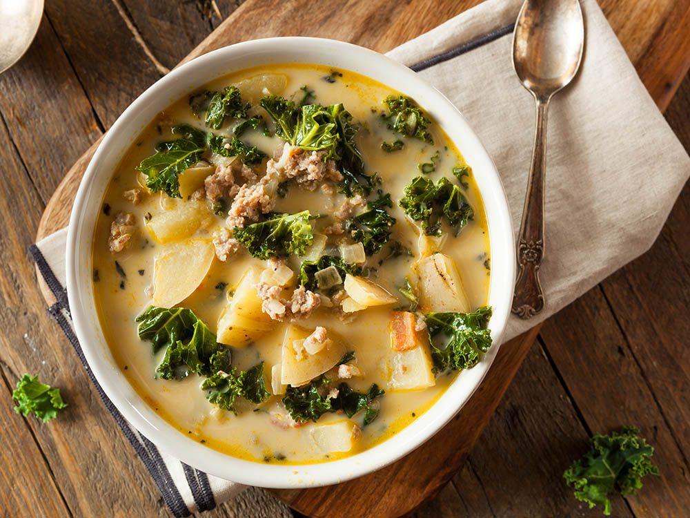 Recettes de kale : la soupe portugaise.