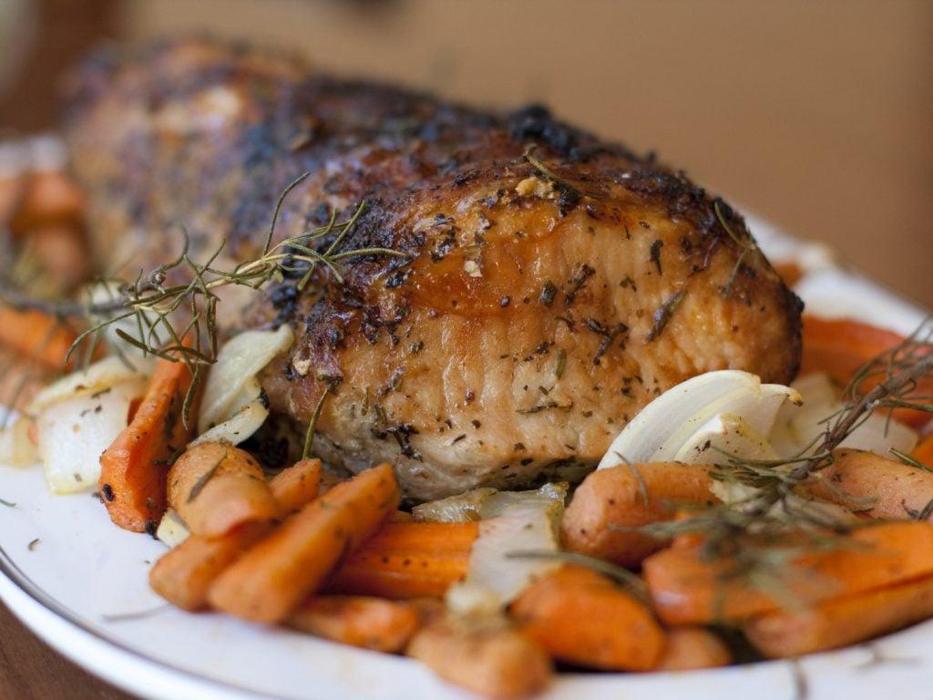 Recette de rôti de porc pour Noël.