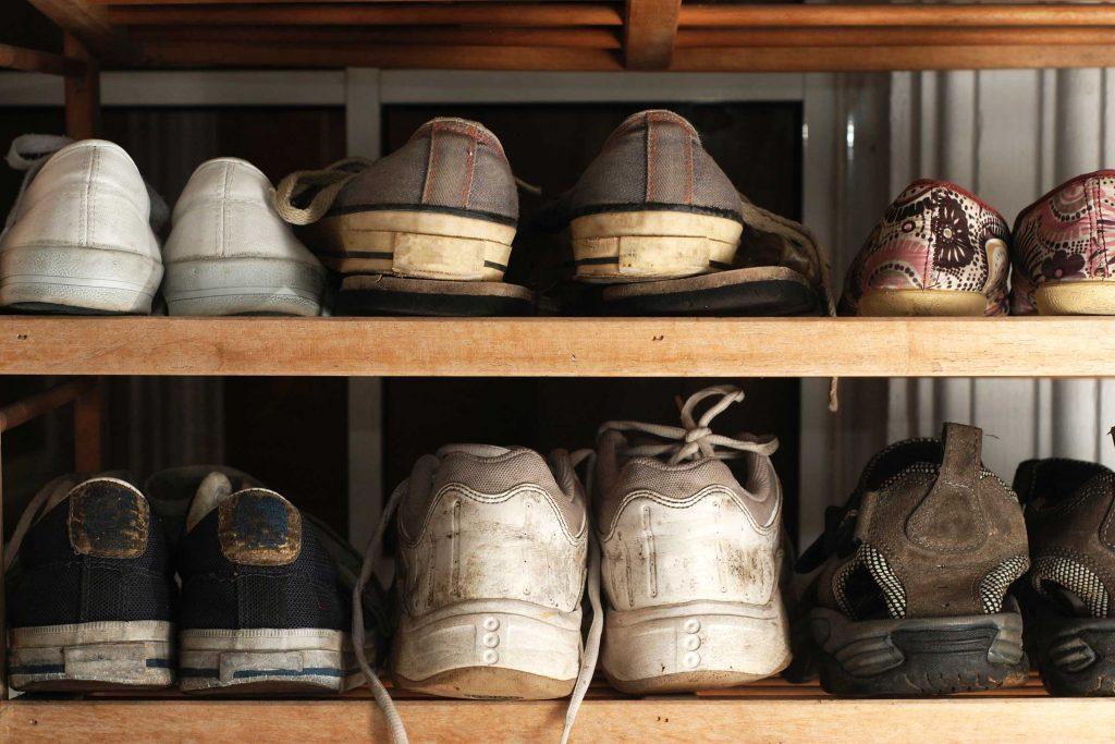 Assurez-vous de ne pas trop de chaussures dans votre entrée.