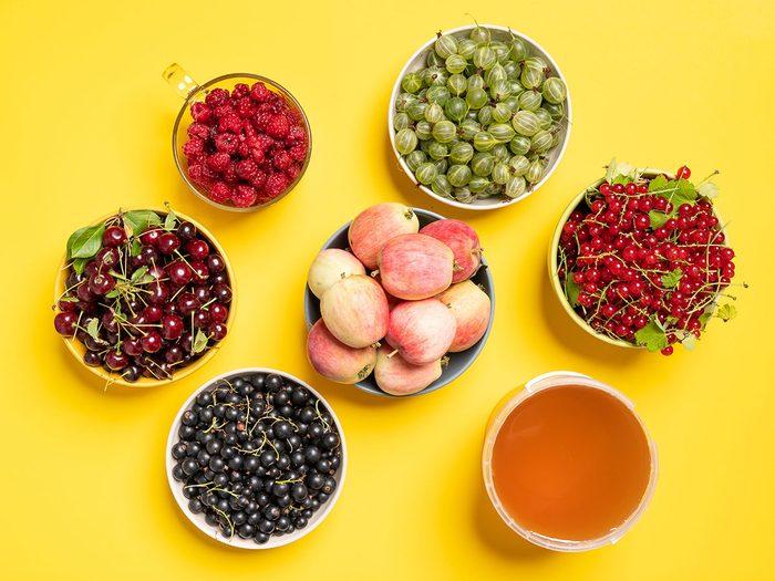 Les aliments à haute teneur en fructoseprovoquent des maux de ventre er des gaz.