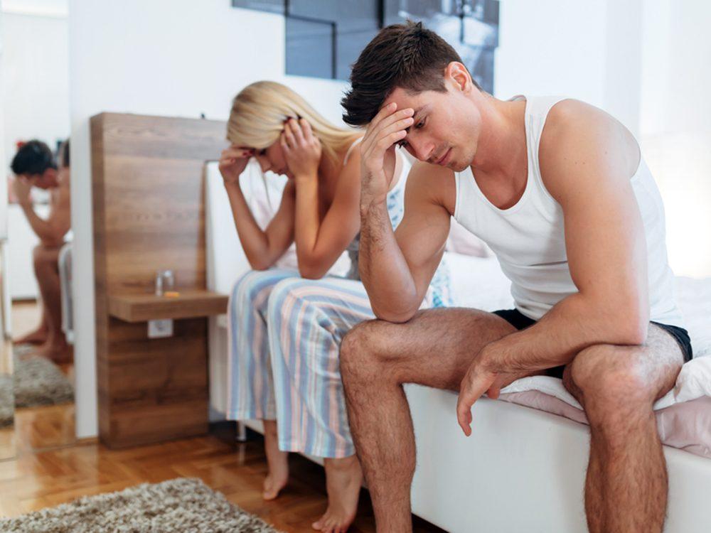 Les raisons pour lesquelles les hommes disent non au sexe et refusent les relations sexuelles.