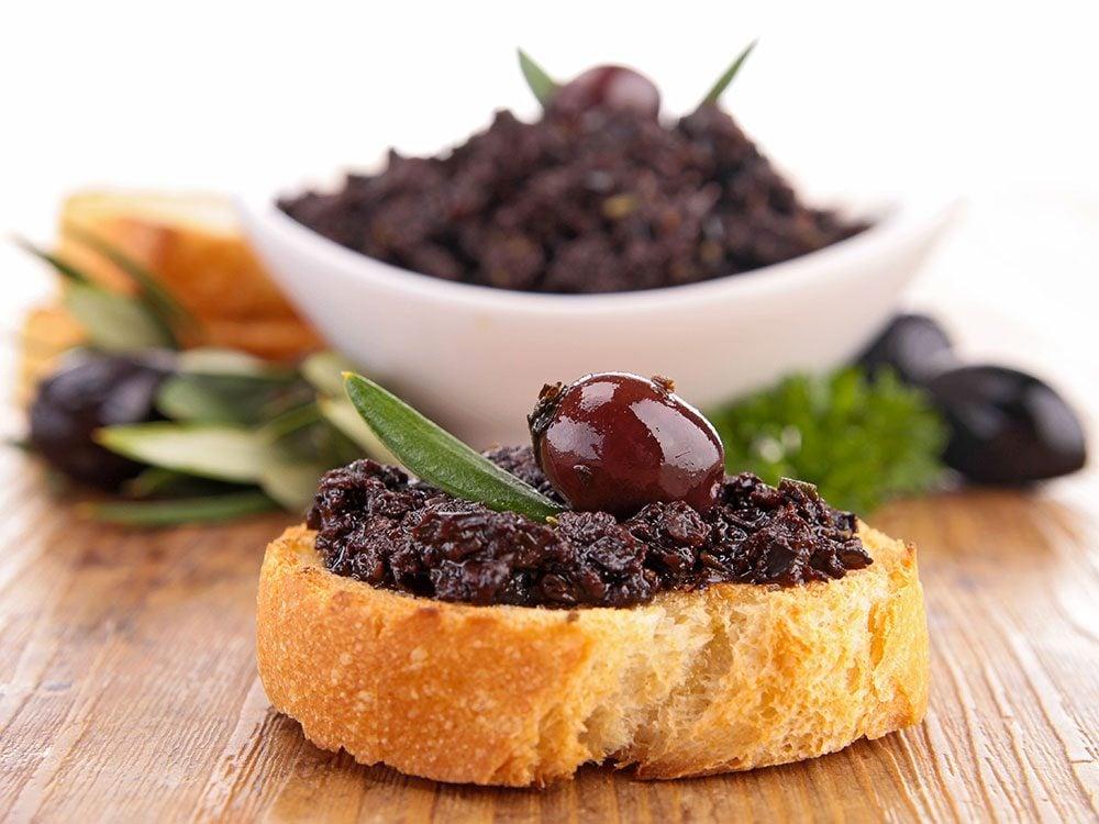 Recette de tapenade d'olives et anchois.